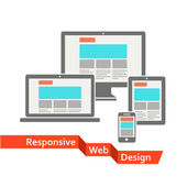 Responsive web design — Vecteur