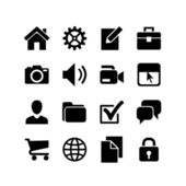 16 Basic Icons. Website Iconset — Stock Vector