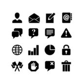 Website Iconset. Communication. 16 icons — Stock Vector