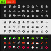 Website Iconset — Stock Vector