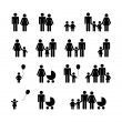 Family Pictogram — Vettoriali Stock