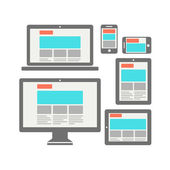 Responsive web design — Stockvector