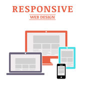Responsive web design — Stock Vector