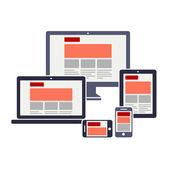 Conception de sites web entièrement sensible — Vecteur