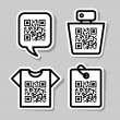QR-Code. Set of pictograms — Stock Vector #26072659