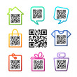 QR-Code. Set of 8 pictograms - Stock Vector
