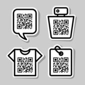QR-Code. Set of pictograms — Stock Vector
