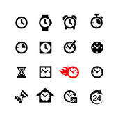 Set 16 clock icons — Stock Vector