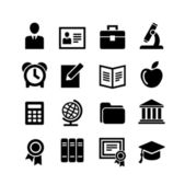 Set 16 education icons — Stock Vector
