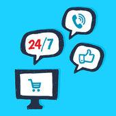Online web-service — Stock Vector