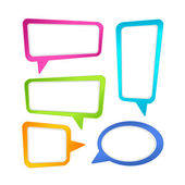 Colorful speech bubble frames. Set — Stock Vector