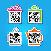 QR-Code. Set of pictograms for website — Stock Vector