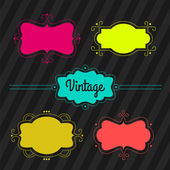 Vintage labels, set — Vector de stock