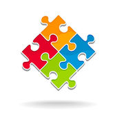 Puzzle background - symbol team — Stock Vector