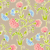 Floral vector seamless pattern — Stock Vector