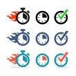 Web icons set. Time, stopwatch, clock — Stock Vector #29575887