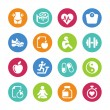 Stock Vector: Set - 16 Health and Fitness icons