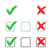 Check mark - Yes and No — Stock Vector