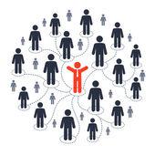 Social media marketing — Stock Vector
