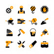 16 web icons set - building, construction, repair and decoration — Stock Vector #30986373