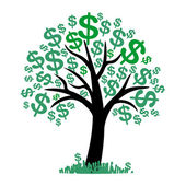Vector money tree - symbol of successful business — Stock Vector