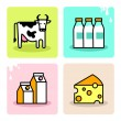 Dayri milk icon set — Stok Vektör