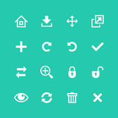 Conjunto de ícones da web. barra de ferramentas, editar e personalizar — Vetorial Stock