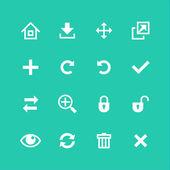 De set van de pictogrammen van de websites. werkbalk bewerken en aanpassen — Stockvector