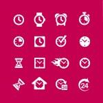 Web icon set - time, clock, alarm — Stock Vector