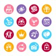 16 web icon set - Party, Birthday and celebration — Stock Vector