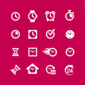 Web icon set - tijd, klok, alarm — Stockvector