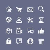 Ange 16 grundläggande ikoner för hemsida och beröring skärm — Stockvektor