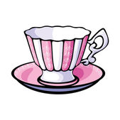 Vector tea cup and saucer — Stock Vector