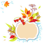 Herfst vector frame design — Stockvector