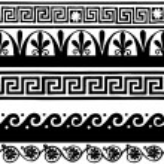 Greek style seamless borders — Stock Vector