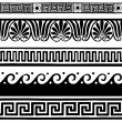 Greek style seamless borders — Stock Vector
