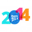 Happy new year! Greeting card, 2014 — Stock Vector