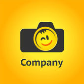 Camera pictogram, photography concept, vector icon logo — Stock Vector
