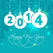 Stock Vector: Happy new year - greeting card, 2014