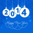 Happy new year - greeting card, 2014 — Stock Vector
