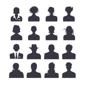 Web icon set of people avatars — Stock Vector