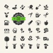 Flower and Gardening Tools Icons set — Stock Vector