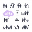 People Family Pictogram. Web icon set. — Stock Vector #35271709