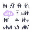 Stock Vector: People Family Pictogram. Web icon set.