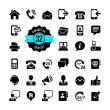 Web icon set. Contact us — Vecteur