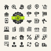 Set web icons. Real Estate, property, realtor — Stock Vector