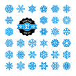 Snowflakes icon collection. Vector set.  — Stockvektor