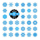 Snowflakes icon collection. Vector set. — Stock Vector