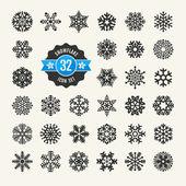 Snowflakes vector collection. Web icon set. — Stock Vector