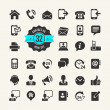 Web icon set. Contact us — Image vectorielle